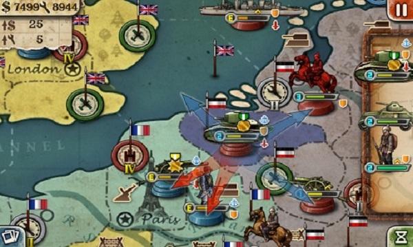 欧陆战争3HD破解版:一款以海陆战争为背景的即时策略战斗游戏